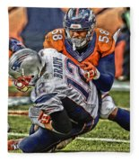 Von Miller Denver Broncos Art Fleece Blanket