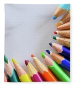 Vortex Of Colored Pencils Fleece Blanket