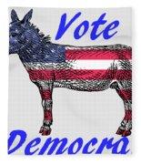 Vote Democrat Fleece Blanket
