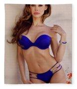 Voula Blue Bikini Fleece Blanket