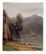 Vue Du Lac Leman Fleece Blanket