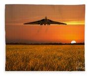 Vulcan Farewell Fly Past Fleece Blanket