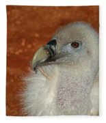 Vulture Portrait Fleece Blanket