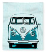Vw Van Graphic Artwork Fleece Blanket