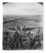 W W I: Battle Of Verdun Fleece Blanket