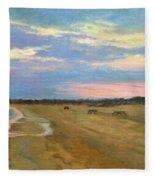 Wades Beach Sundown Study II Fleece Blanket