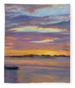 Wades Beach Sunset Fleece Blanket