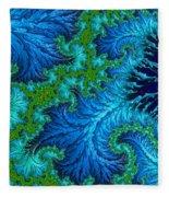 Fractal Art - Wading In The Deep Fleece Blanket