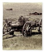 Wagon Ghost Town Fleece Blanket