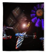 Wagon Train To The Stars Fleece Blanket