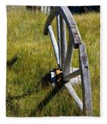 Wagon Wheel In Grass Fleece Blanket