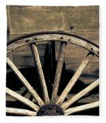 Wagon Wheel - Old West Trail N832 Sepia Fleece Blanket