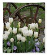 Wagon Wheel Tulips Fleece Blanket