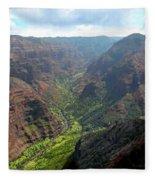 Waiamea Canyon Kauai Fleece Blanket