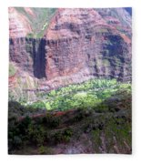 Waiamea Canyon Walls Fleece Blanket