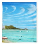 Waikiki Fleece Blanket