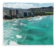 Waikiki To Diamond Head Fleece Blanket