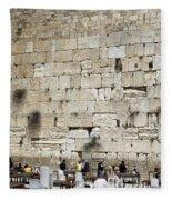 Wailing Wall In Jerusalem Fleece Blanket