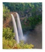 Wailua Falls - Kauai Hawaii Fleece Blanket