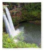 Wailua Falls, Kauai Fleece Blanket