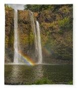 Wailua Falls Rainbow Fleece Blanket
