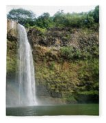 Wailua Falls0 919 Fleece Blanket