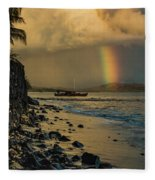 Waimanalo Rainbow Fleece Blanket