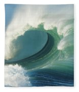 Waimea Bay Shorebreak Fleece Blanket