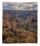 Waimea Canyon 7 - Kauai Hawaii Fleece Blanket