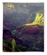 Waimea Canyon Fleece Blanket