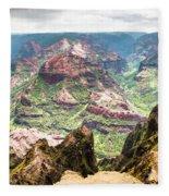 Waimea  Canyon Splendor,  Fleece Blanket