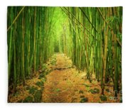 Waimoku Bamboo Forest Fleece Blanket