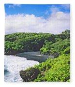 Wainapanapa State Park Fleece Blanket
