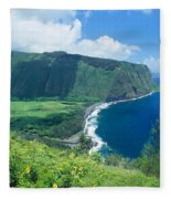 Waipio Valley Lookou Fleece Blanket