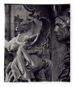 Waiting For Alexander - Heroes And Gods - Violet  Fleece Blanket