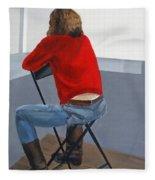 Waiting For Inspiration Fleece Blanket