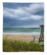 Waiting For Sunrise On The Dunes Fleece Blanket