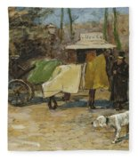 Waiting In A Car Park  Willem De Zwart  1872   1931 Fleece Blanket