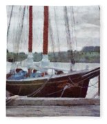 Waiting To Sail Fleece Blanket