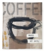 Wake My Soul- Art By Linda Woods Fleece Blanket