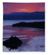Wake Up In Lake Tahoe  Fleece Blanket