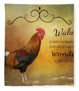 Wake Up Fleece Blanket