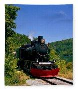 Wakefield Steam Train Fleece Blanket