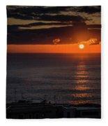 Waking Up Fleece Blanket