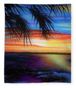Wakulla Beach Morning Fleece Blanket