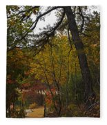 Walden Pond Path Into The Forest 2 Fleece Blanket