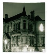 Waldorf College, The Centre For Science And Arts By Night Stround Gloucestershire Fleece Blanket