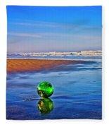 Waldport Oregon - Float The Ocean Fleece Blanket
