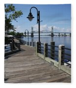 Walk Along The Fear River - Wilmington Fleece Blanket