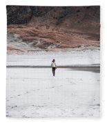 Walk At The Beach  Fleece Blanket